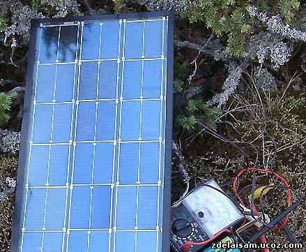 Самодельная солнечная батарея из диодов