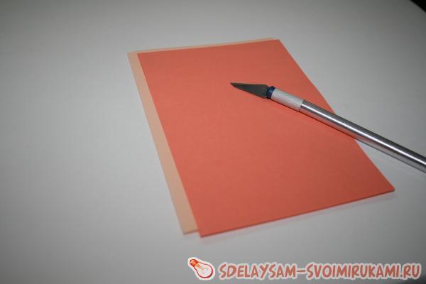 Пасхальная открытка в технике Киригами