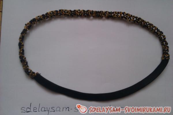 Повязка для волос из бисера