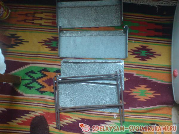 Самодельный раскладной мангал