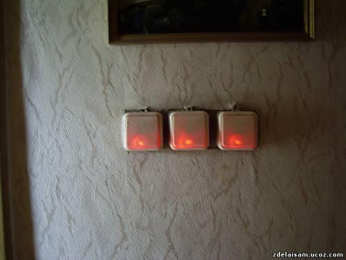 Подсветка для выключателя своими руками 269
