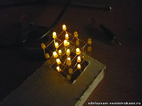 Светодиодный куб 3х3х3 не