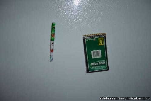 Магнитный блокнот и ручку (магниты на холодильник)