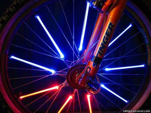 Подсветка на велосипед своими руками сделать