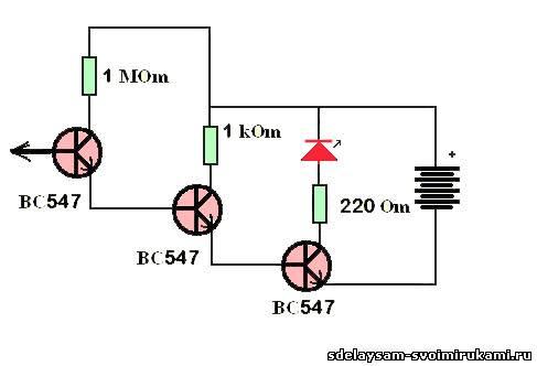5 схем детектора скрытой проводки своими руками.