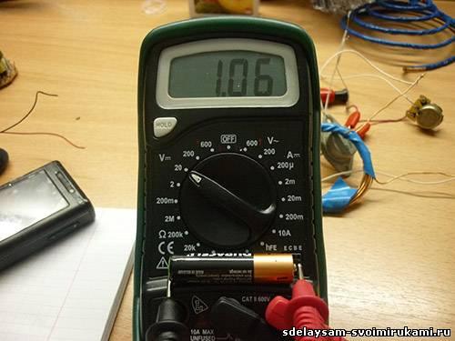 Светодиодный фонарь от 1,5 В и ниже