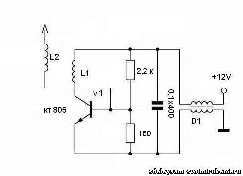 «Миноискатель» на одном транзисторе Простые электронные