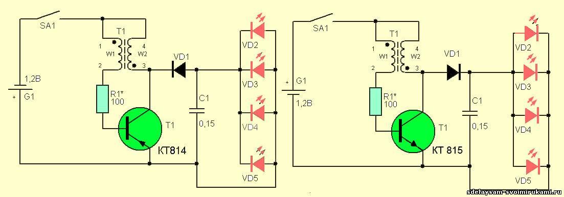 Светодиодный ночник схема