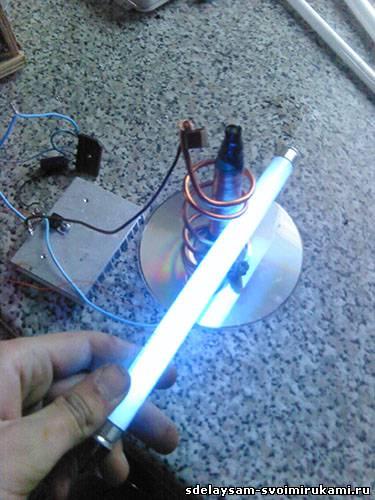 Катушка Тесла на одном транзисторе или качер Бровина.