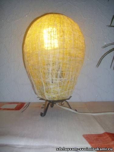 Обновим лампу новым абажуром