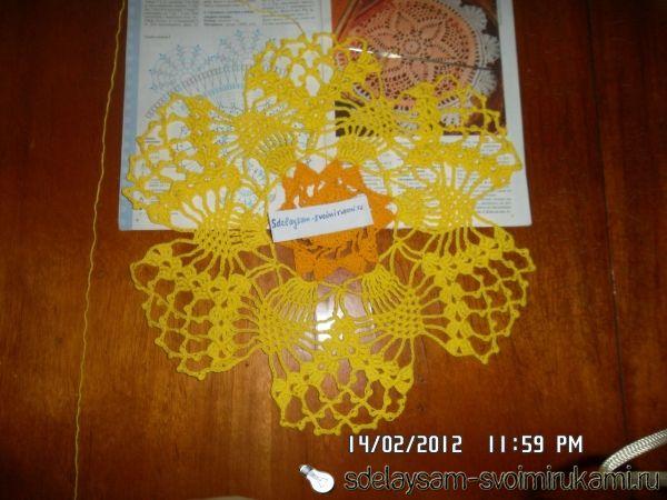 Вязание салфеток толстыми нитками