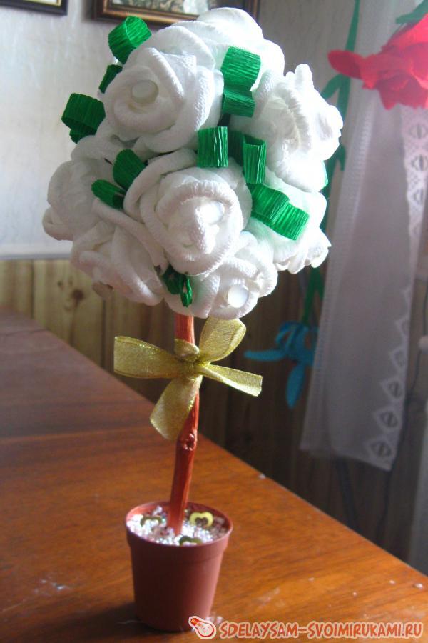 Розы на шаре – топиарий