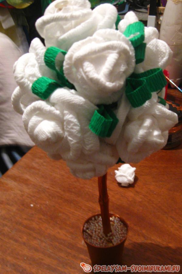 Дерево шар или топиарий готово