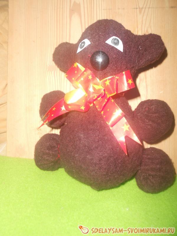 Механическая игрушка - «Кувыркающийся медвежонок»