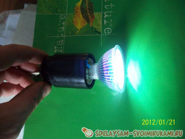 Completion of an energy-saving LED lamp