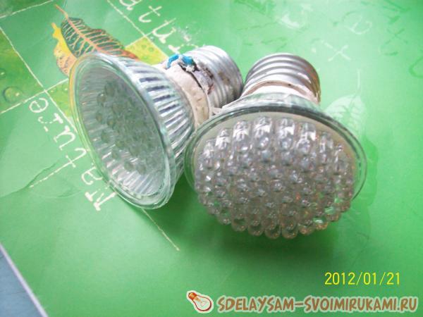 Доработка энергосберегающей светодиодной лампы