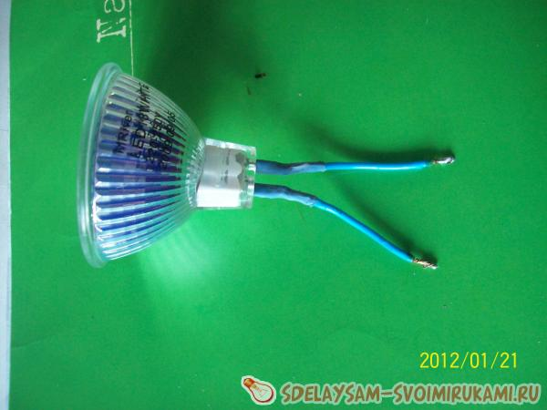 Completing the energy saving LED lamp