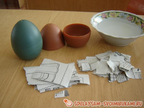 Easter papier-mâché egg