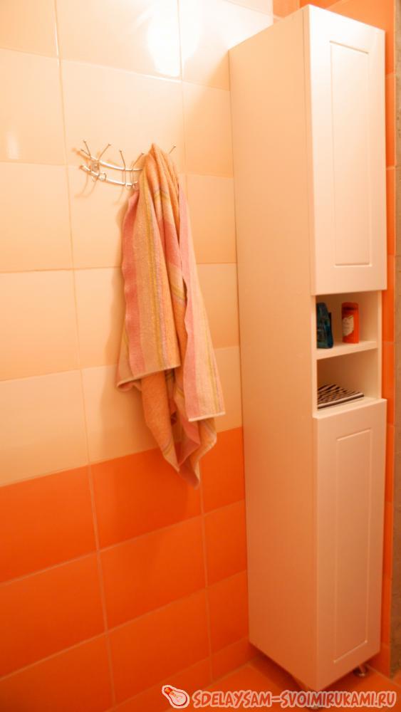 Как сделать шкаф в ванную 378