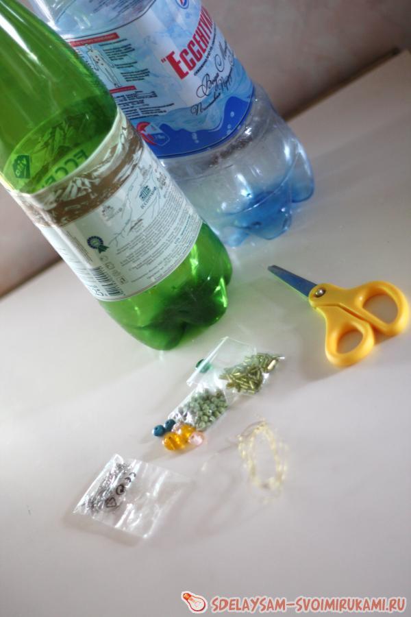 Серьги из пластиковых бутылок