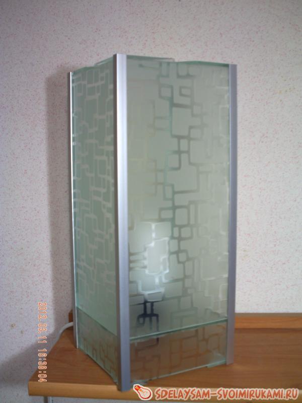Креативный светильник из стекла Future. ( Make Home # 59 )