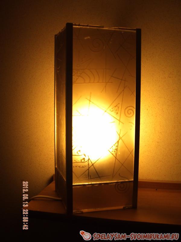 Светильники самодельные из декоративного стекла