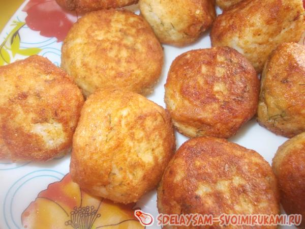Битки рисово-куриные с сыром «Нежные»