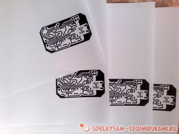 Создание печатной платы методом лазерного утюга.