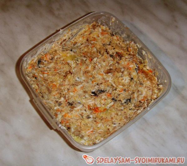 Рецепт «Салат с «кириешками»