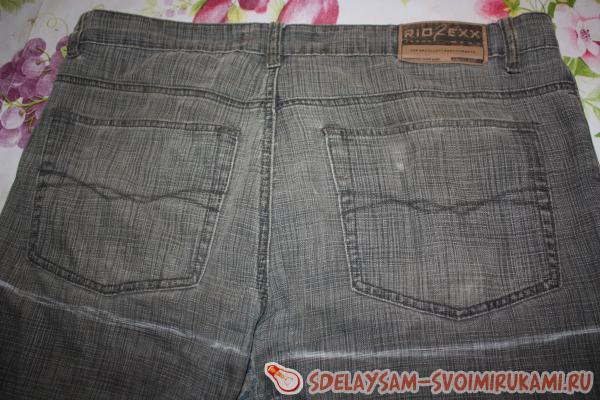 Шьём красивый фартук из джинсов