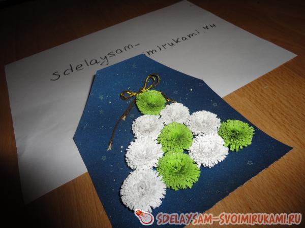Новогодняя объемная открытка - Елочка