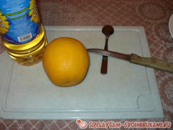 Свечка из апельсина