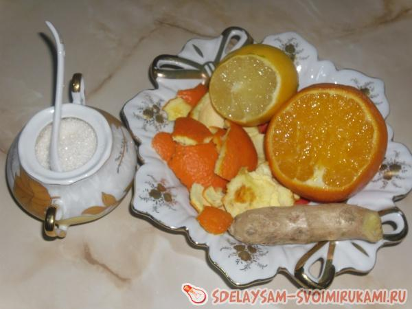 Citrus peel to tea