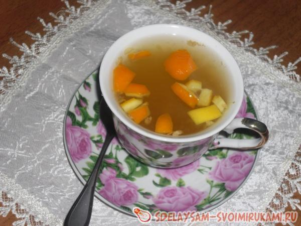 Чай с кожурой апельсина