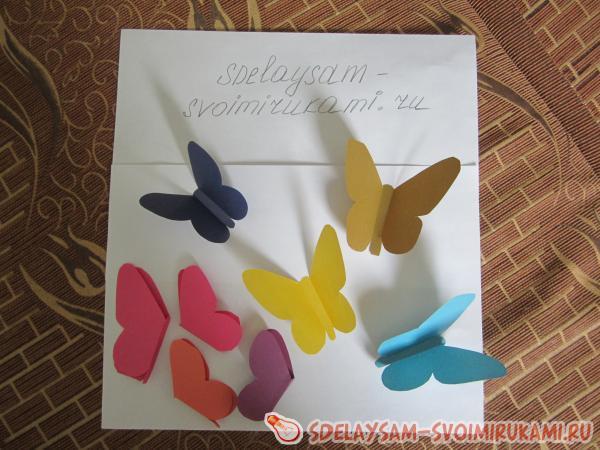 Переворачиваем бабочек и на заднюю