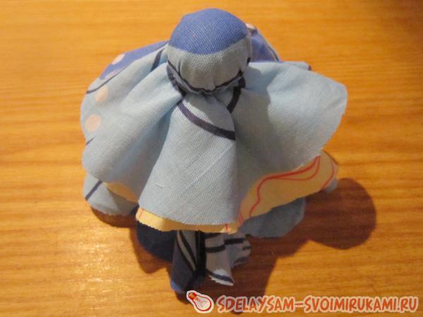 Тряпичная кукла Снегурочка