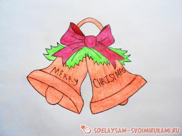 Рисуем рождественские колокола