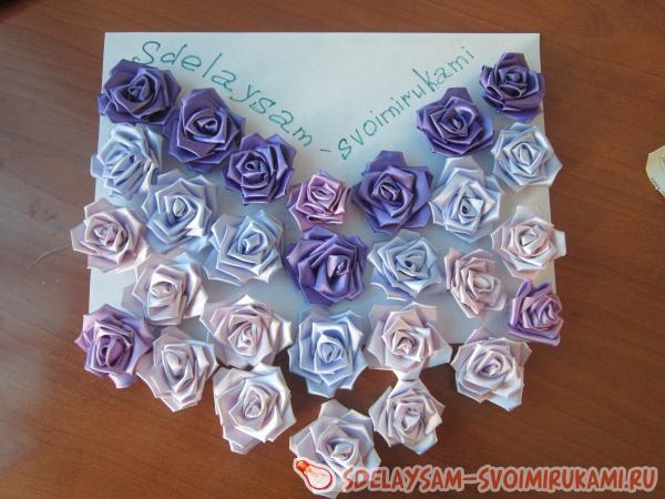 Украшение на свадебную машину из роз