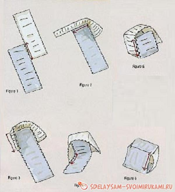 Схема плетения кубика из бисера.