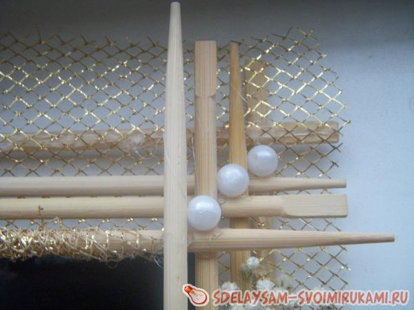 Photo frame from Chinese sticks