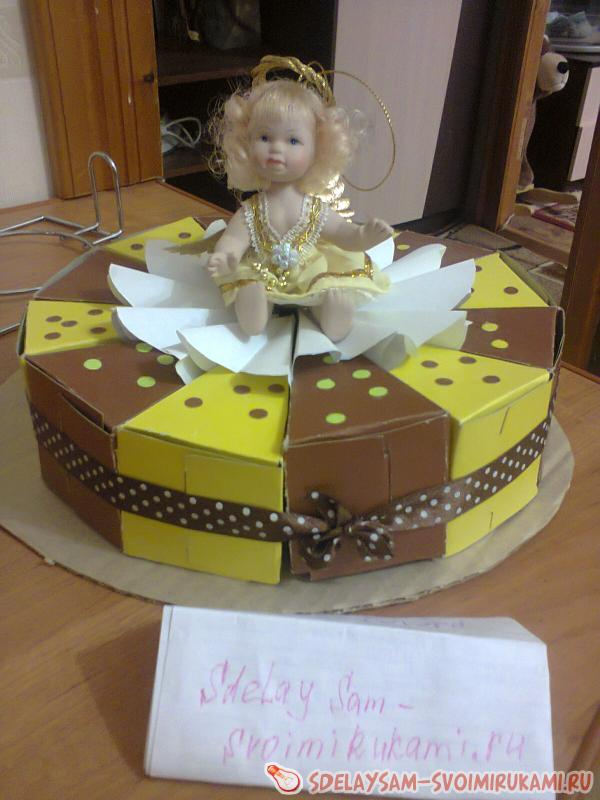 Торт из картона – самое современное поздравление