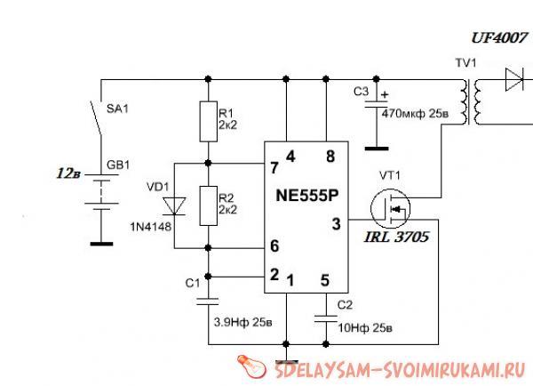 ультразвуковой отпугиватель на ne555