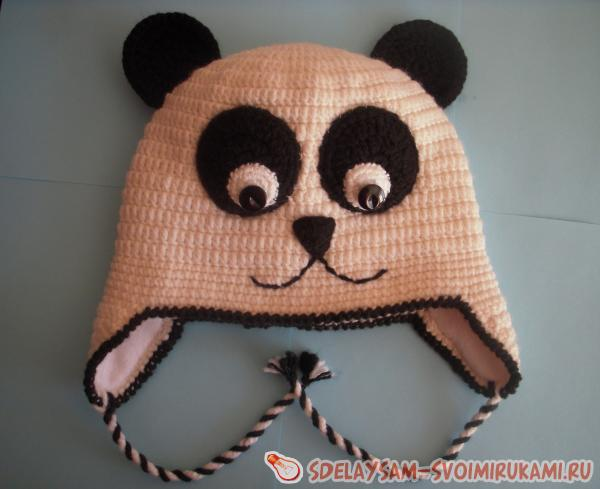 Вязание крючком шапки с мордочками