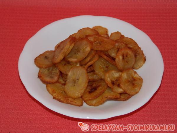 Готовим банановые чипсы