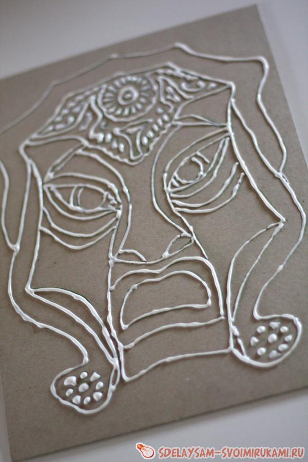 Техника рисования «Старое золото»