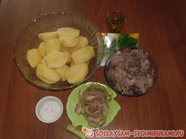 Запеченный картофель с мясом в рукаве