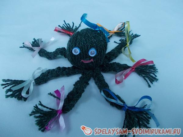 Мягкие игрушки птичПуговица из ниток своими руками