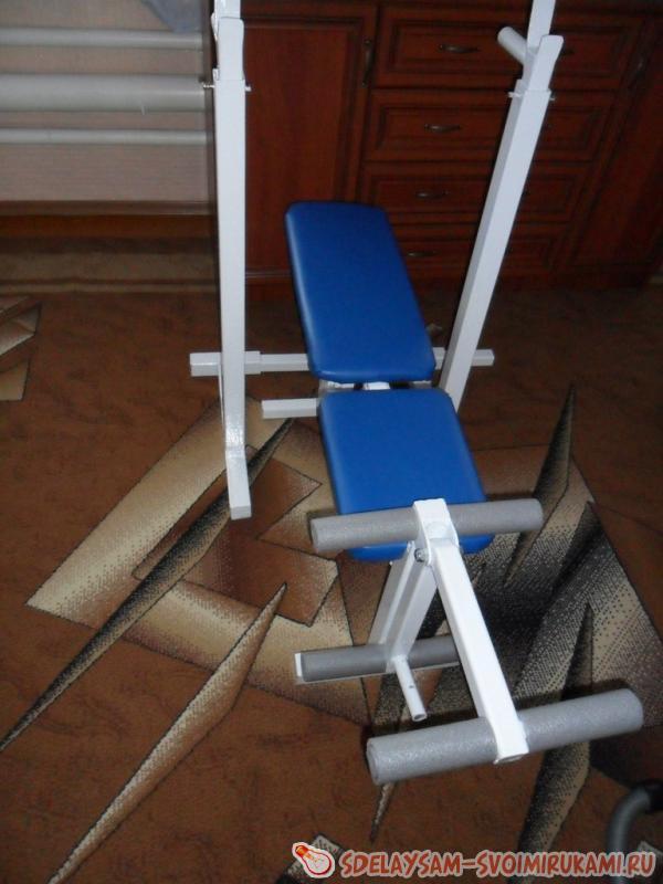 Универсальная скамья со стойками