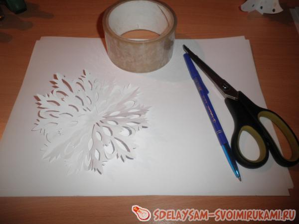 Как сделать снежинку балерину из бумаги по шаблону своими