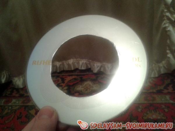 делаем отверстие в диске